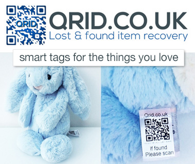 Qrid.co.uk - QR code on a soft tag for your lovey!