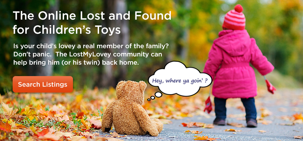 The Online Lost and Found for Children's Toys - Child with teddy bear