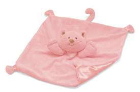 Baby Gund kitty satineesnugs blanket - It is very worn. It is pink with a kitty head and satin bottom. I have searched everywhere and can not find my daughters favorite blanket! Please let me know if you know where I can get one! It is a discontinued item and am having no luck on finding a replacement