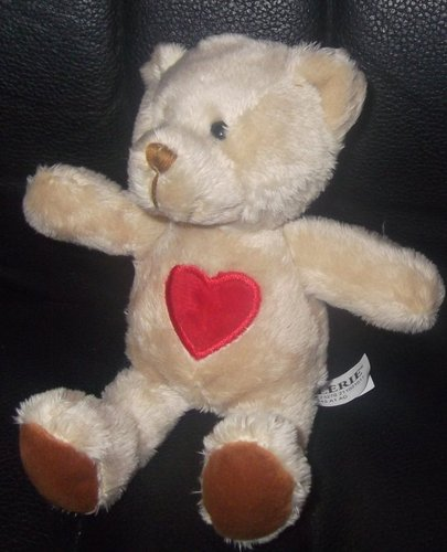 7 1/2&#8221; Galerie Beige Teddy Bear w/ Red Heart Plush Toy - This is my daughters favorite teddy bear. She doesnt let go of it all day long - I have no idea what we will do tomorrow. Please if anyone has it - it was sold in rite aid for valentines day 2 years ago. please please help