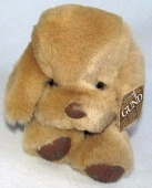 Spot 1983 DOGFEAT Brown Puppy Dog Leather Feet Plush Stuffed Toy - 1983 small light brown Gund puppy, approx 6 inches, dark brown spot next to tail, foot pads and nose dark brown also. My 27 year old daughter lost her favorite