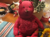 Red Bear by Baby Gap - Can anyone help me find this red bear? It plays music and was purchased from Baby Gap. I think it was from their Christmas collection in 2008 or 2009.  Thank you!