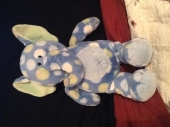 Blue polka dot elephant - Blue polka dot elephant made by first impressions. Needed for bedtime!