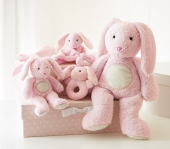 Pottery Barn pink bunny thumbie - From the nursery critters collection at Pottery Barn Kids. Looking for the 14