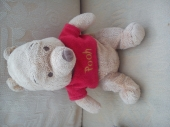 winnie the pooh - Winnie the pooh soft toy with brown sewn nose and eyes. Head to toe is 10