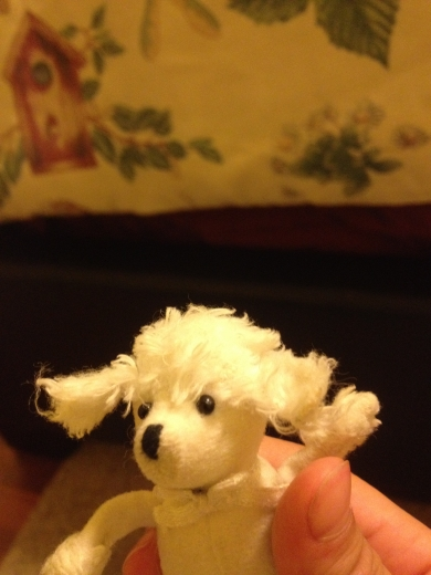Stuffed Poodle Small White