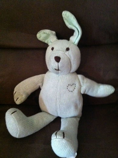 Green Knit Baby Gap Bunny