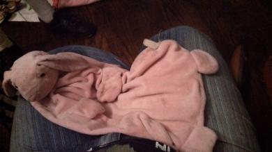 Pink Bunny Security Blanket