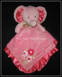 Carter S Pink Elephant Mommy Loves Me With Satin Trim Lovey