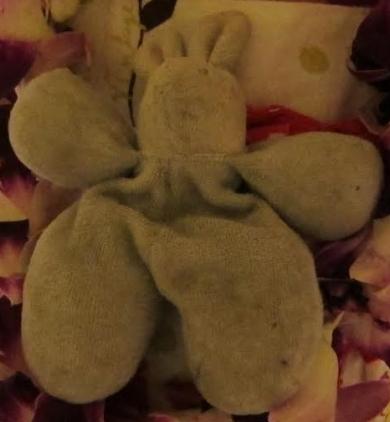 Gray Velvet Bunny Rabbit