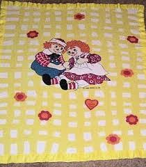 Raggedy Ann And Andy Thermal Yellow And White Lattice
