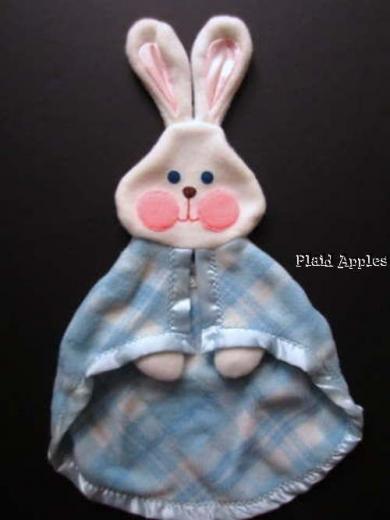 Blue Plaid Fisher Price Bunny Circa 1970