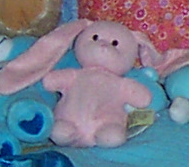 Pink Chenille Floppy Eared Bunny From Target