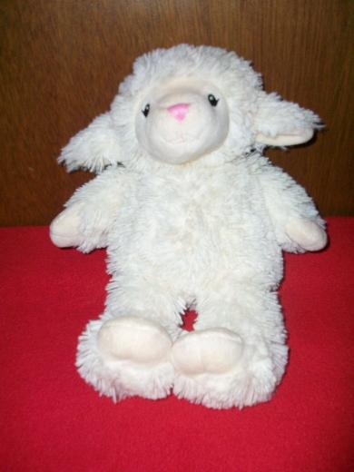 First Impressions White Lamb Plush Toy