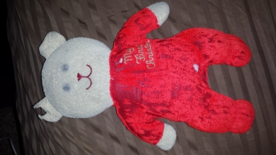 Eden My First Christmas Teddy Bear Red And White