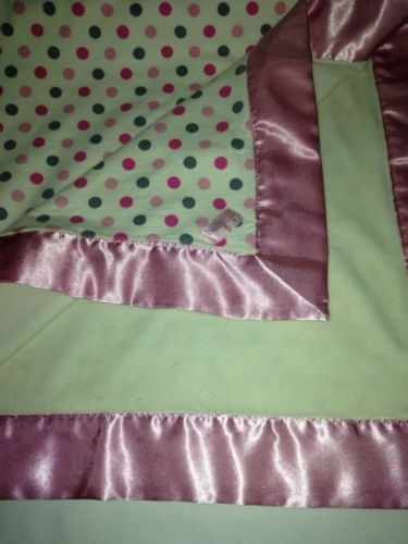 Children S Place Blanket Cream With Pink Grey Polka Dot