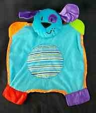 Cuddly blue puppy teether blanket