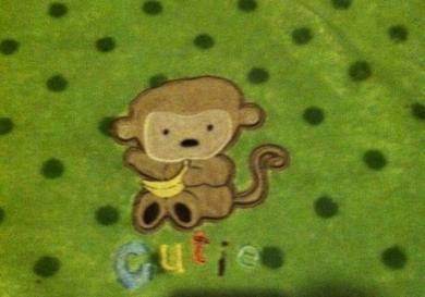 Child Of Mine Green Monkey Blanket