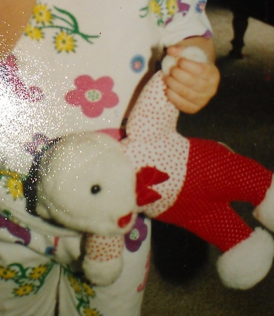 Red And White Valentines Bear With Bowtie And I Love You Heart