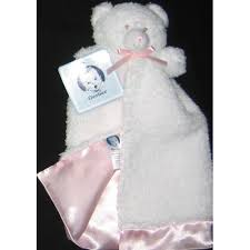 Gerber Bear Security Blanket With Pink Lining