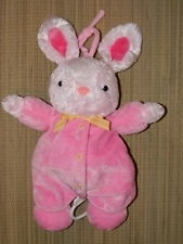 Pink Bunny Pull With Light Pink Face And Darker Body