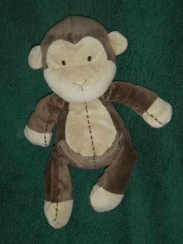 Carters Brown Stitched Plush Monkey