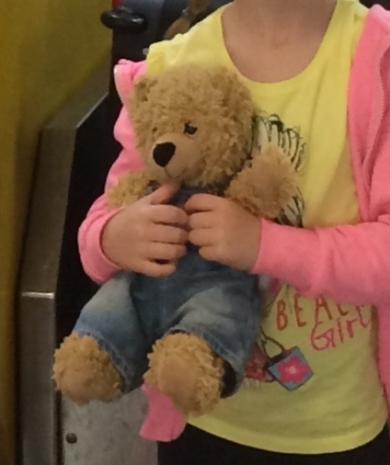 Brown Soft Bear Wearing Blue Dungarees