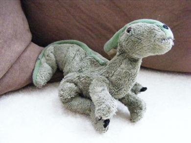 Green Parasaurolophus Dinosaur