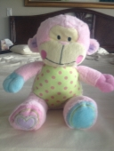 "Baby Essentials 11"" pink plush monkey"