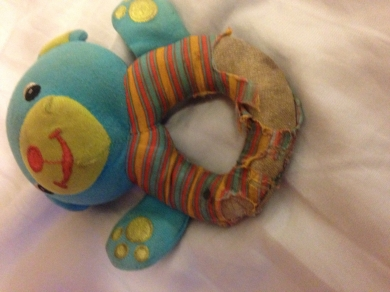 Soft Blue Bear Rattle