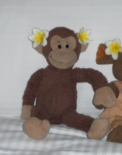 Brown Lanky Soft Plush Monkey