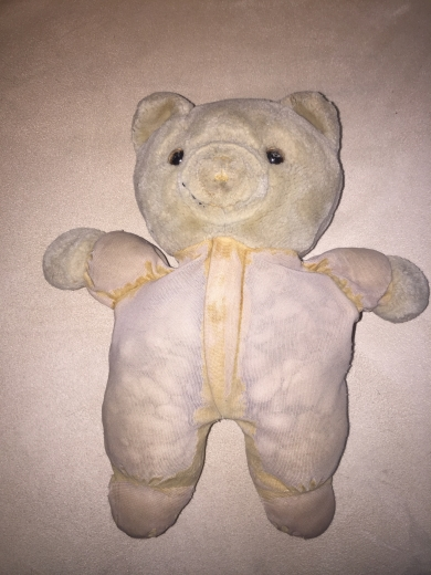 White And Pink Early 90 S Stuffed Bear