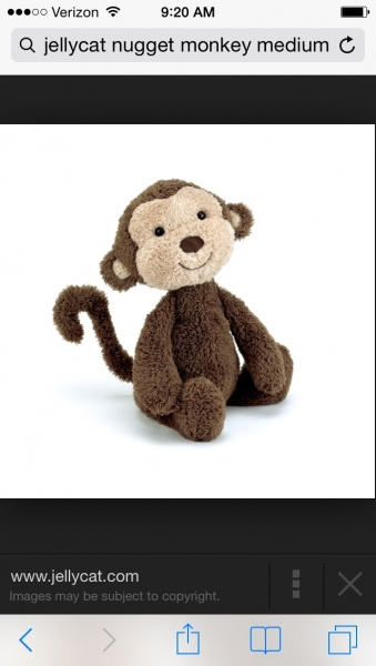 Jellycat Nugget Monkey Medium