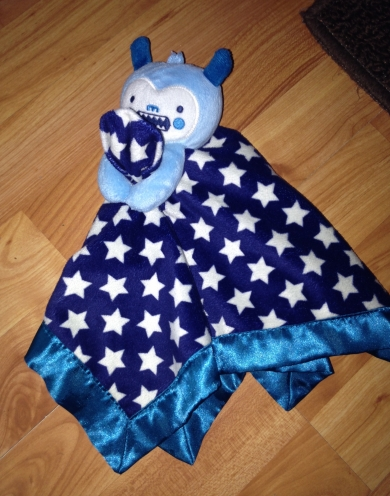 Blue And White Star Monster Security Blanket