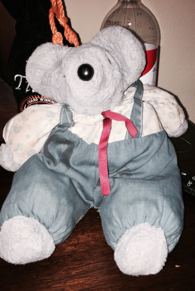 Gray Mouse Stuffed Animal With Sewn On Overalls Mary Meyer