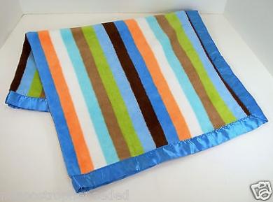 Baby boom Blue striped blanket