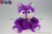 purple plush fox with heart on chest