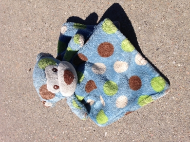 Blue Lovey Bear With Brown Green White Polka Dots