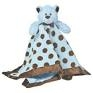 Mary Meyer Blue Brown Dot Baby Security Blanket Boy