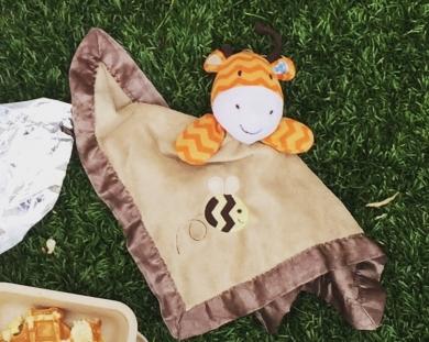 Orange giraffe with brown blanket attachment-circo target brand