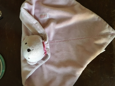 Carters Precious First Pink Teddy Security Blanket