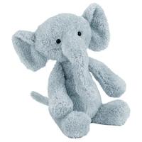 """Jellycat Nugget 11"""" grey soft floppy elephant"""