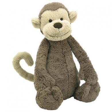Dishevelled Brown Jellycat 'Bashful' Monkey