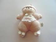 Osh Kosh Pink Soft Doll Brown Hair Bunny Slippers Lovey Plush Rattle