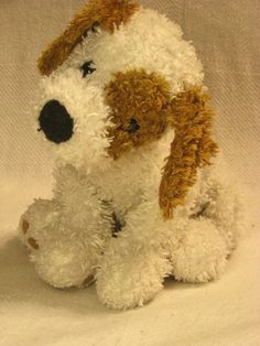Jelly Cat Stuffed Dog Black And White Spotted