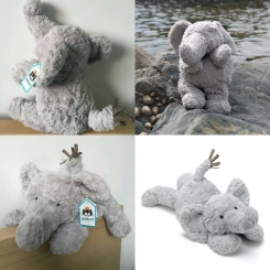 Grey Jellycat Tumblie Elephant