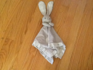 Pink bunny security blanket lovey
