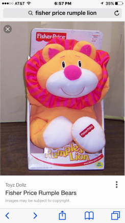 Fisher price rumples lion