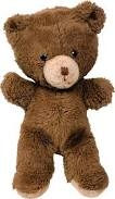Brown Teddy bear. Small and brown, with beige around nose and mouth.