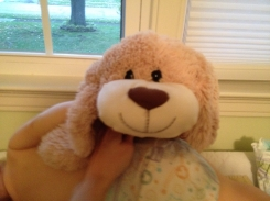 """Stuffed dog, abt 19"""", sold at tractor supply in 2014"""
